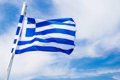 σημαία Ελλάδα Στοκ εικόνα με δικαίωμα ελεύθερης χρήσης