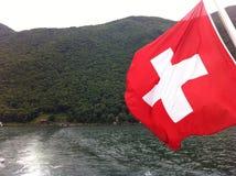 σημαία Ελβετία Στοκ Φωτογραφία