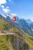 σημαία Ελβετός Στοκ φωτογραφίες με δικαίωμα ελεύθερης χρήσης