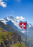 σημαία Ελβετός Στοκ εικόνα με δικαίωμα ελεύθερης χρήσης