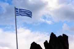 σημαία ελληνικά Στοκ φωτογραφία με δικαίωμα ελεύθερης χρήσης