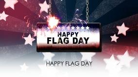 σημαία ημέρας ευτυχής διανυσματική απεικόνιση