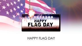 σημαία ημέρας ευτυχής απεικόνιση αποθεμάτων