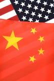 σημαία ΗΠΑ της Κίνας Στοκ εικόνες με δικαίωμα ελεύθερης χρήσης