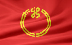 σημαία Ιαπωνία Νιγκάτα Στοκ Φωτογραφία