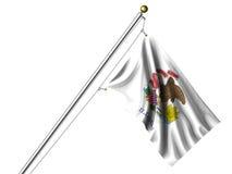σημαία Ιλλινόις που απομ&om Στοκ Φωτογραφίες