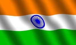σημαία Ινδία Στοκ εικόνα με δικαίωμα ελεύθερης χρήσης