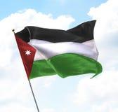 σημαία Ιορδανία Στοκ Φωτογραφία