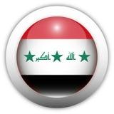 σημαία Ιράκ κουμπιών aqua Στοκ Φωτογραφίες