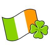 σημαία ιρλανδικά Στοκ εικόνα με δικαίωμα ελεύθερης χρήσης