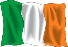 σημαία Ιρλανδία Στοκ Φωτογραφίες