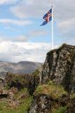 σημαία Ισλανδία Στοκ Φωτογραφίες
