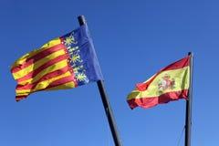 Σημαία Ισπανία και Comunidad Valenciana, Στοκ εικόνα με δικαίωμα ελεύθερης χρήσης
