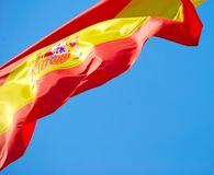 σημαία Ισπανία Στοκ Φωτογραφία