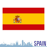 σημαία Ισπανία Στοκ Φωτογραφίες