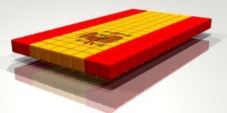 σημαία ισπανικά Στοκ εικόνα με δικαίωμα ελεύθερης χρήσης