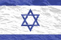 σημαία Ισραήλ που κυματίζ& Στοκ Φωτογραφίες