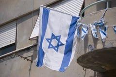 σημαία Ισραήλ Στοκ Φωτογραφίες