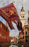 σημαία Ιταλία Βενετία Στοκ φωτογραφίες με δικαίωμα ελεύθερης χρήσης