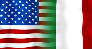 σημαία Ιταλία ΗΠΑ Στοκ φωτογραφίες με δικαίωμα ελεύθερης χρήσης