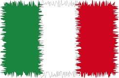 σημαία Ιταλία τυποποιημένη Στοκ εικόνες με δικαίωμα ελεύθερης χρήσης