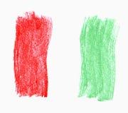 σημαία ιταλικά Στοκ Εικόνα