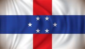 σημαία Κάτω Χώρες των Αντιλ& Στοκ Φωτογραφία