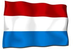 σημαία Κάτω Χώρες Στοκ Φωτογραφίες