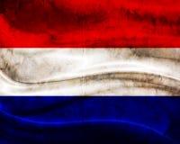 Σημαία Κάτω Χώρες Grunge Στοκ Φωτογραφία