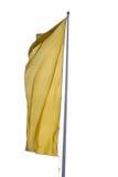 σημαία κίτρινη Στοκ Εικόνες