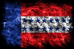 Σημαία καπνού αρχιπελαγών Tuamotu, ομάδες νησιών γαλλικό σε πολυ διανυσματική απεικόνιση