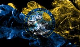 Σημαία καπνού πόλεων Σάντα Άννα, κράτος Καλιφόρνιας, Πολιτεία του AM Στοκ Φωτογραφίες