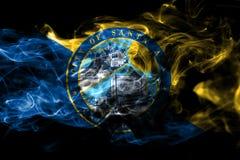 Σημαία καπνού πόλεων Σάντα Άννα, κράτος Καλιφόρνιας, Πολιτεία του AM διανυσματική απεικόνιση