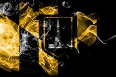 Σημαία καπνού πόλεων της Βαλτιμόρης, κράτος της Μέρυλαντ, Ηνωμένες Πολιτείες της Αμερικής διανυσματική απεικόνιση