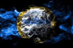 Σημαία καπνού πόλεων της Βοστώνης, κράτος της Μασαχουσέτης, Πολιτεία του AM απεικόνιση αποθεμάτων