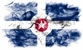 Σημαία καπνού πόλεων της Ινδιανάπολης, κράτος της Ιντιάνα, Πολιτεία του AM Στοκ Φωτογραφίες