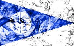 Σημαία καπνού πόλεων της Μινεάπολη, κράτος Μινεσότας, Ηνωμένες Πολιτείες της Αμερικής Στοκ εικόνα με δικαίωμα ελεύθερης χρήσης
