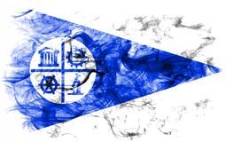 Σημαία καπνού πόλεων της Μινεάπολη, κράτος Μινεσότας, Πολιτεία του Α στοκ εικόνες