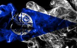 Σημαία καπνού πόλεων της Μινεάπολη, κράτος Μινεσότας, Πολιτεία του Α Στοκ εικόνα με δικαίωμα ελεύθερης χρήσης