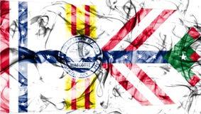 Σημαία καπνού πόλεων της Τάμπα, κράτος της Φλώριδας, Ηνωμένες Πολιτείες της Αμερικής Στοκ φωτογραφία με δικαίωμα ελεύθερης χρήσης