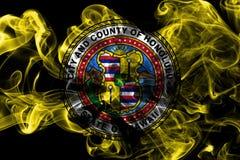 Σημαία καπνού πόλεων της Χονολουλού, κράτος της Χαβάης, Ηνωμένες Πολιτείες της Αμερικής Στοκ Φωτογραφίες