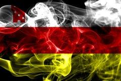 Σημαία καπνού πόλεων της Barbara Santa, κράτος Καλιφόρνιας, Ηνωμένες Πολιτείες Ο Στοκ Εικόνες