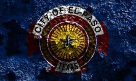 Σημαία καπνού πόλεων του Ελ Πάσο, κράτος του Τέξας, Ηνωμένες Πολιτείες της Αμερικής στοκ φωτογραφία