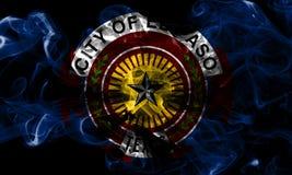 Σημαία καπνού πόλεων του Ελ Πάσο, κράτος του Τέξας, Ηνωμένες Πολιτείες της Αμερικής στοκ εικόνες με δικαίωμα ελεύθερης χρήσης