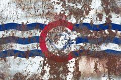 Σημαία καπνού πόλεων του Κινκινάτι, κράτος του Οχάιου, Ηνωμένες Πολιτείες της Αμερικής στοκ φωτογραφίες με δικαίωμα ελεύθερης χρήσης