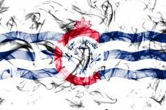 Σημαία καπνού πόλεων του Κινκινάτι, κράτος του Οχάιου, Ηνωμένες Πολιτείες της Αμερικής Στοκ φωτογραφία με δικαίωμα ελεύθερης χρήσης