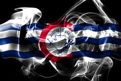 Σημαία καπνού πόλεων του Κινκινάτι, κράτος του Οχάιου, Ηνωμένες Πολιτείες της Αμερικής διανυσματική απεικόνιση