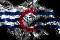 Σημαία καπνού πόλεων του Κινκινάτι, κράτος του Οχάιου, Ηνωμένες Πολιτείες της Αμερικής ελεύθερη απεικόνιση δικαιώματος