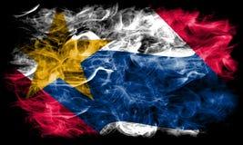Σημαία καπνού πόλεων του Λαφαγέτ, κράτος της Ιντιάνα, Ηνωμένες Πολιτείες της Αμερικής Στοκ εικόνες με δικαίωμα ελεύθερης χρήσης