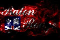 Σημαία καπνού πόλεων του Μπάτον Ρουζ, κράτος της Λουιζιάνας, Πολιτεία του Α απεικόνιση αποθεμάτων